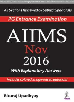 Front cover:AIIMS Nov 2016, 1st edition