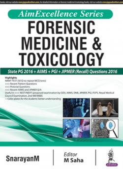 Front cover:AimExcellence Series: Forensic Medicine & Toxicology, 1st edition