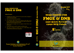 Front cover:   MCQs Points for FMGE & DNB