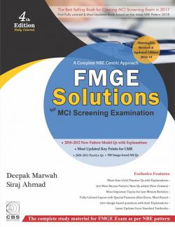 Front cover: FMGE Solutions for MCI Screening Examination