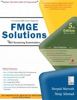 Front cover:FMGE Solutions for MCI Screening Examination, 5/e