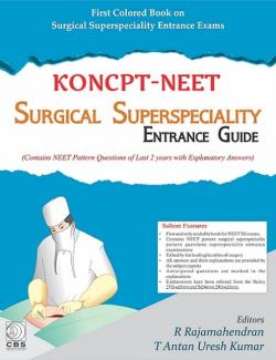 Front cover: KONCPT - NEET Surgical Superspeciality Entrance Guide