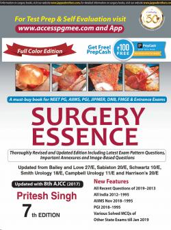 Front cover:SURGERY ESSENCE-7 th EDITION- By Pritesh Singh