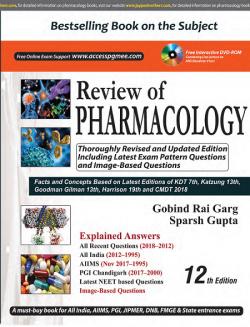 Front cover: Review of Pharmacology, 12th edition