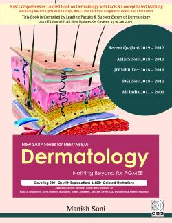Front cover:Dermatology Nothing Beyond for PGMEE  By Manish Soni