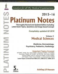 Front cover: Platinum Notes 2015-2016: Medical Sciences Volume 2