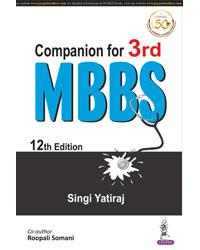 Front cover:Companion for 3rd MBBS, 12/e