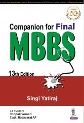 Front cover:Companion for Final MBBS 13 th Edition