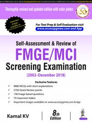 Front cover:Self-Assessment & Review of FMGE/MCI Screening Examination (2002-Dec