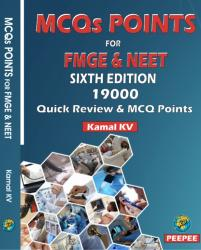Front cover:MCQs POINTS FOR FMGE & NEET, 6th Edition