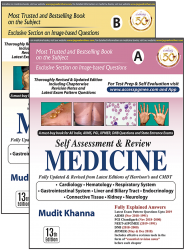 Front cover:Self-Assessment & Review MEDICINE (Part A & B) By Mudit Khanna