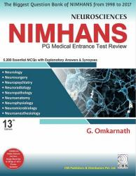 Front cover: NEUROSCIENCES NIMHANS: PG Medical Entrance Test Review
