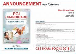 Front cover:PGI Chandigarh: Supplement Nov 2017