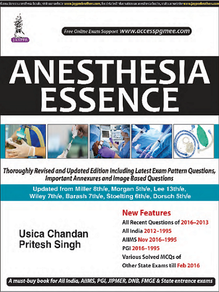 Pritesh singh edulanche front cover anesthesia essence fandeluxe Gallery