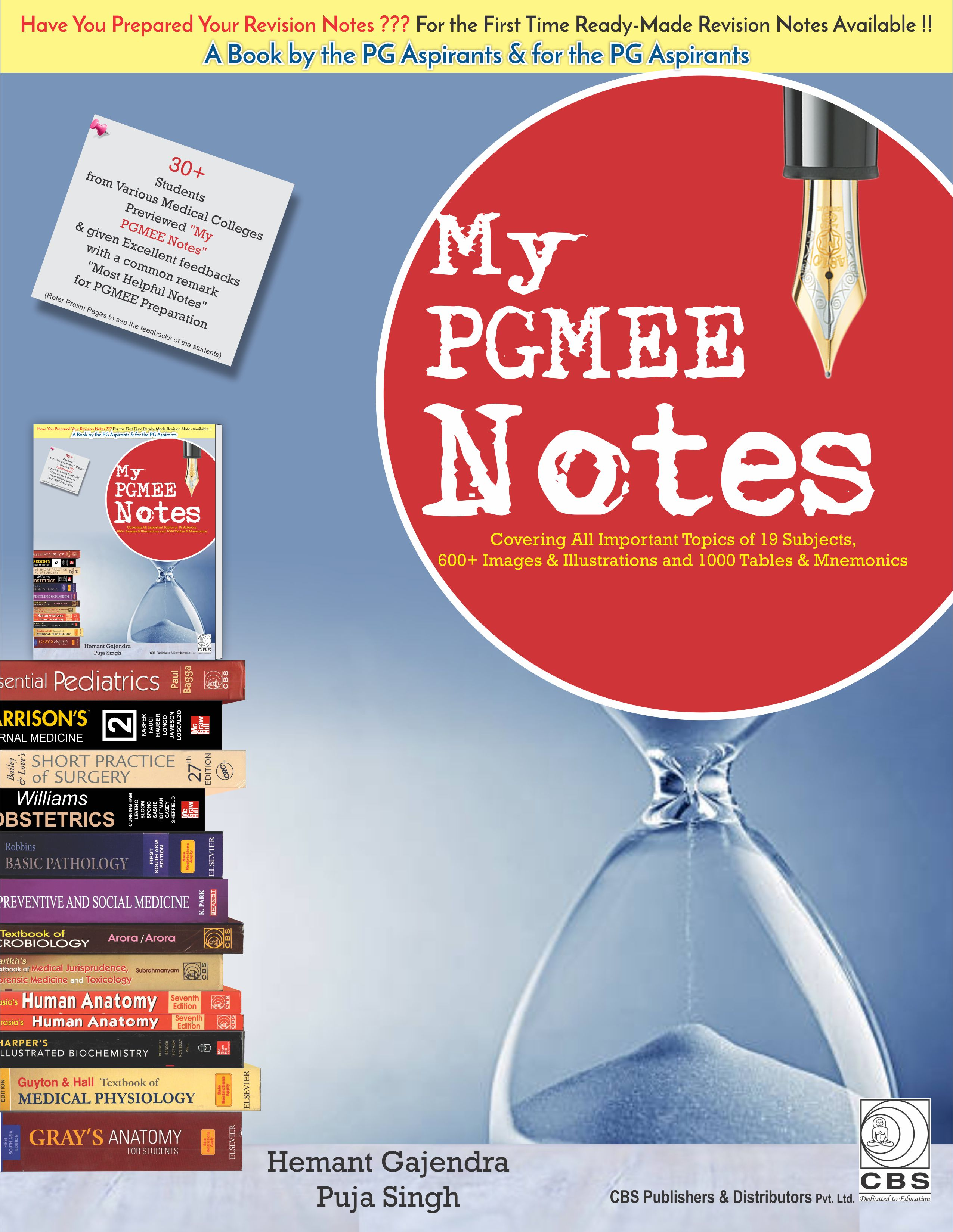 Buy My Pgmee Notes By Hemant Gajendra Puja Singh 1st Edition